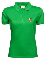 dames polo 1401_ alumni logo_green_nyenrode