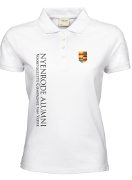 dames polo 1401_alumni logo 2015_white_nyenrode