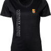 Ladies V-Neck Interlock T-Shirt Nyenrode Alumni VCV Logo 2015