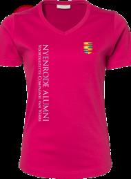 dames shirt 585_alumni logo2015_hotpink_nyenrode
