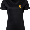 Ladies V-Neck Interlock T-Shirt Nyenrode Alumni VCV Logo