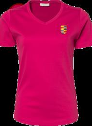 dames shirt 585_alumni logo_hotpink_nyenrode