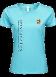 tshirt dames 5001_alumni logo 2015_aqua_nyenrode