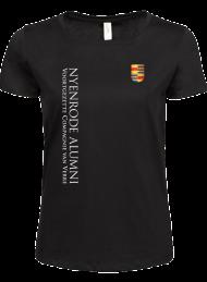 tshirt dames 5001_alumni logo 2015_black_nyenrode