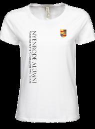 tshirt dames 5001_alumni logo 2015_white_nyenrode