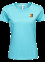 tshirt dames 5001_alumni logo_aqua_nyenrode